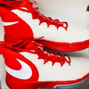 HP NIKE Basketball Shoes Red & White